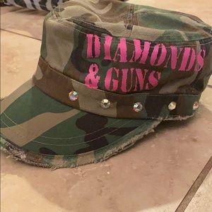 Diamonds and Guns bling cadet hat